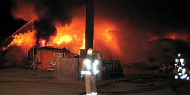 Großbrand in Klagenfurter Müllanlage