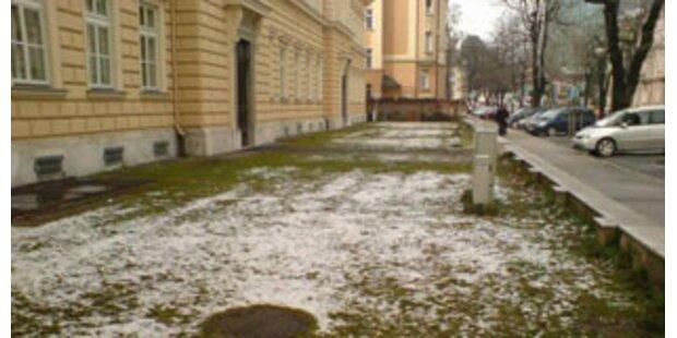 Nun hat auch Klagenfurt Schneedecke