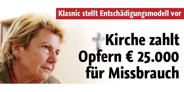 Kirche zahlt bis zu 25.000 Euro an Opfer