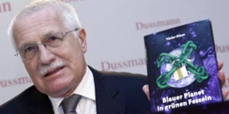 """Vaclav Klaus: """"Klimadebatte gefährdet Freiheit"""""""