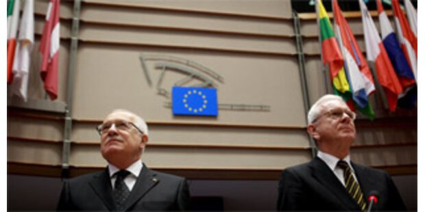 Klaus im EU-Parlament ausgebuht