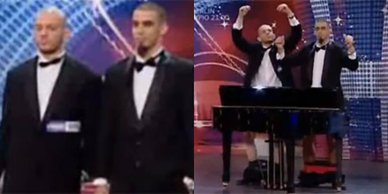 Penis-Klavierspieler beim Supertalent