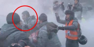 Feuerlöscher-Angriff auf  Vitali Klitschko
