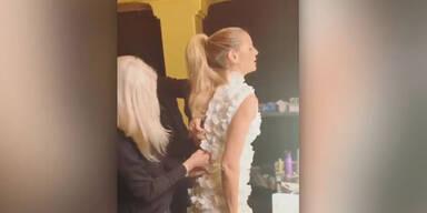 Schwanger? Heidi Klum kommt nicht in Kleid