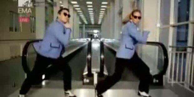 Heidi Klum tanzt