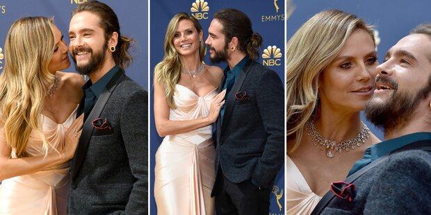Klum und Kaulitz: Liebes-Show am Red Carpet