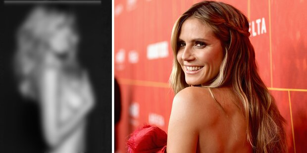 Freche Pose: Heidi Klum zieht blank