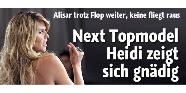 GNTM: Heidi Klum zeigt sich gnädig