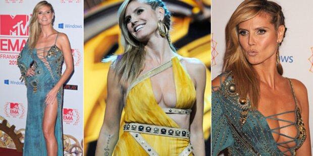 MTV EMA's: Heidi Klum zeigt Bein & Busen