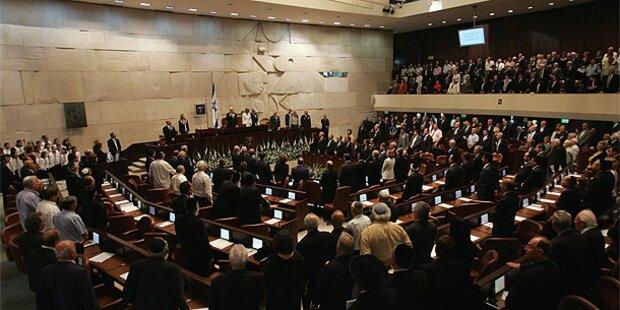 Israels Parlament stimmt für Auflösung