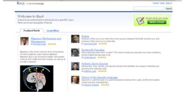 Google präsentiert Internet-Enzyklopädie Knol