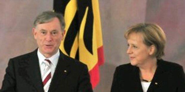 Getrennte Flugzeuge für Köhler und Merkel