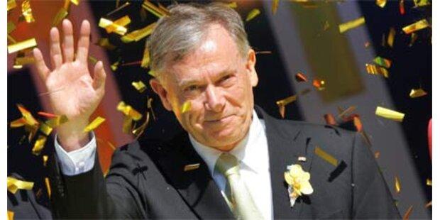 Köhler bleibt deutscher Bundespräsident
