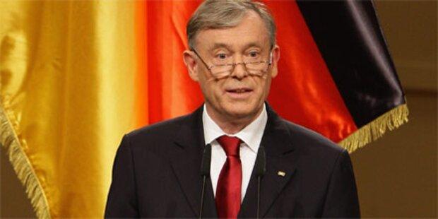 Köhler erst vor einem Jahr wiedergewählt