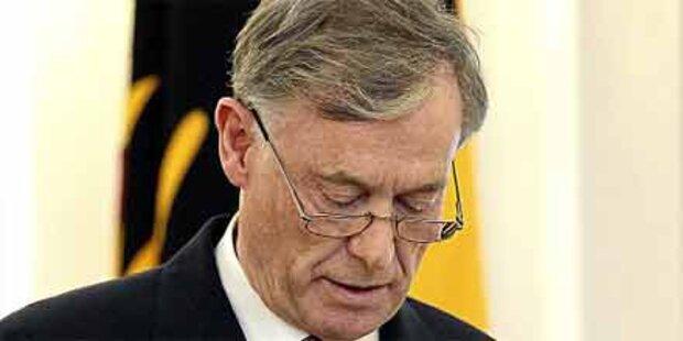 Rücktritt: Großer Zapfenstreich für Köhler