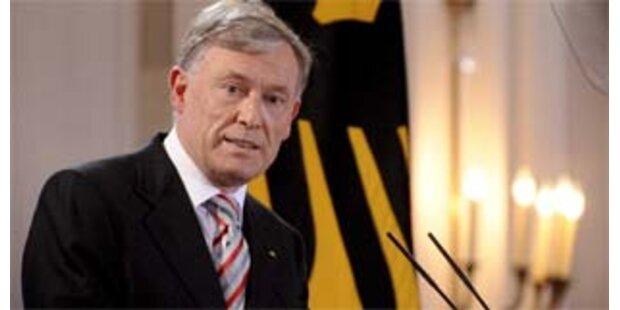 Präsident Köhler unterschreibt EU-Vertrag nicht