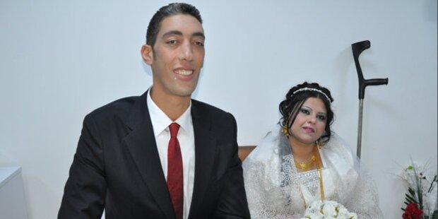 Größter Mann der Welt hat geheiratet