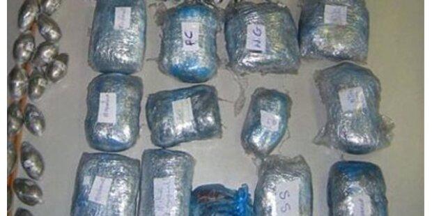 Drogenkurier hatte 72 kg Kokain an Bord