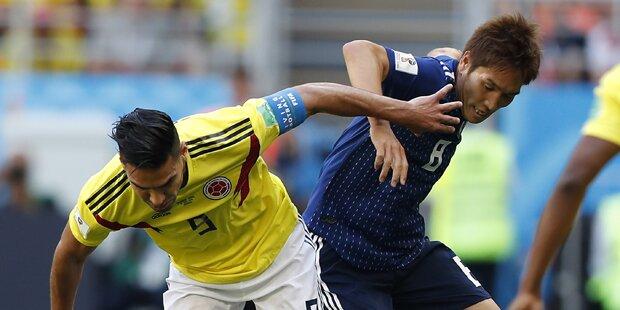 2:1 - Japan überrumpelt Kolumbien