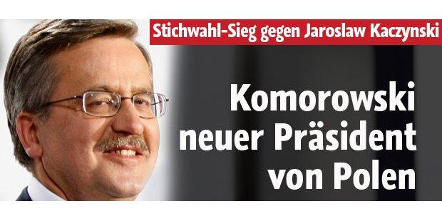 Komorowski wird Polens neuer Präsident