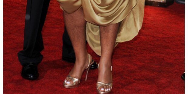 Mit haarigen Beinen über den Red Carpet