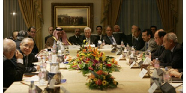 Die Teilnehmer der Nahost-Konferenz