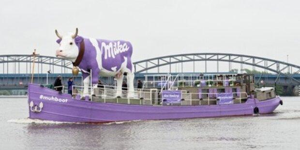 Milka #muhboot nimmt zarten Kurs auf das Wiener Donauinselfest