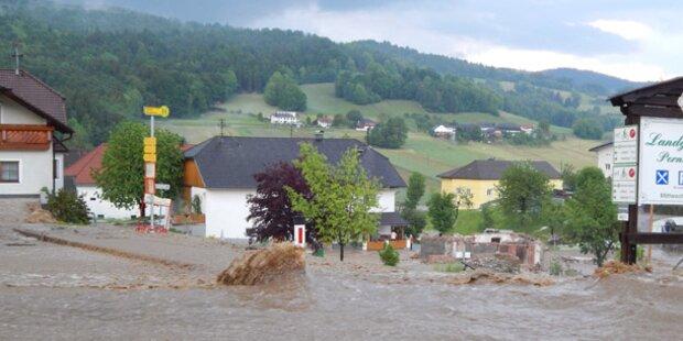 Überflutungen in Oberösterreich