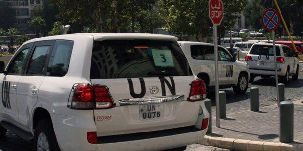 Syrien: Schüsse auf UN-Konvoi