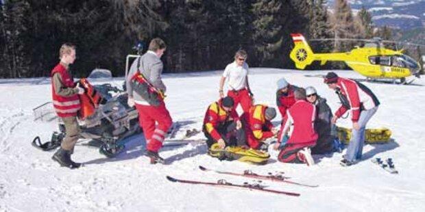 Bub auf Skipiste schwer verletzt