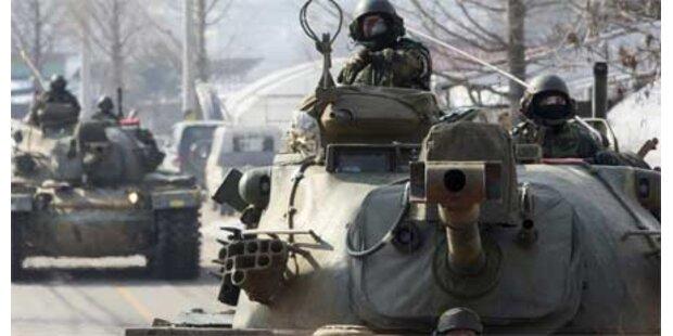 Nordkorea feuert erneut Granaten ab