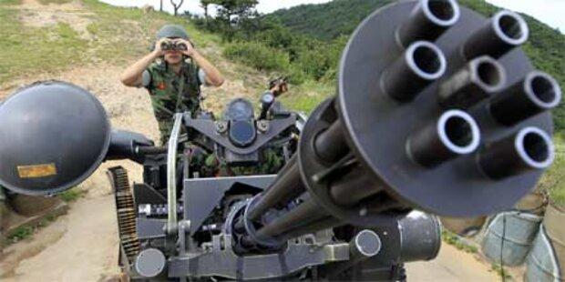Nordkorea feuert Richtung Südkorea