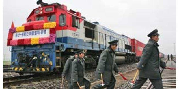 Erstmals fahren Züge zwischen Nord- und Südkorea