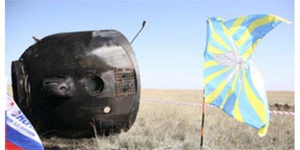 Sojus-Kosmonauten nur knapp dem Tod entronnen