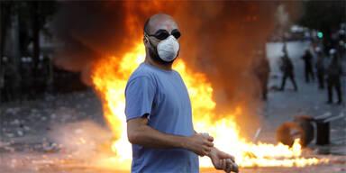 Millionenschäden in Athener City