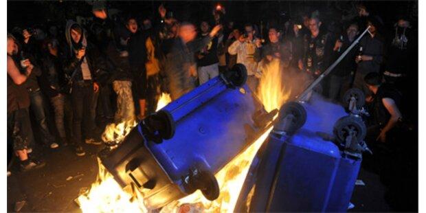 Krawalle bei Walpurgisnachtfeiern