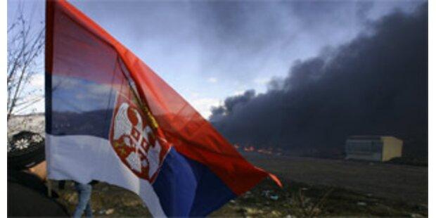 Krawalle in Serbien nach Kosovo-Unabhängigkeit