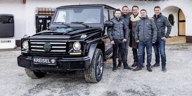 Arnie setzt auf Elektro-SUV aus Österreich