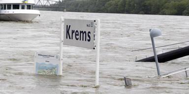 NÖ: Donau vor Höchststand