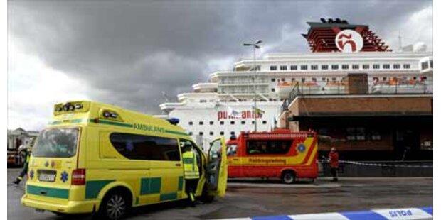 Panik bei Brand auf schwedischer Fähre