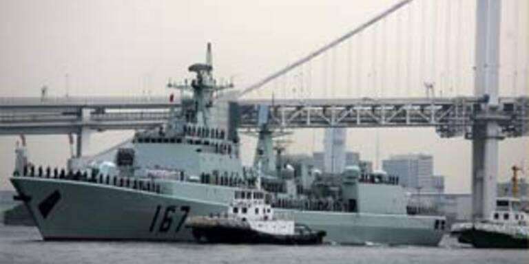 Chinesisches Kriegsschiff erstmals wieder in Japan