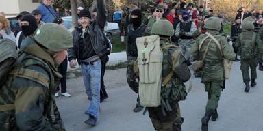 Russische Soldaten Krim