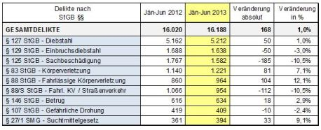 Kriminalstatistik 2013 1. Halbjahr