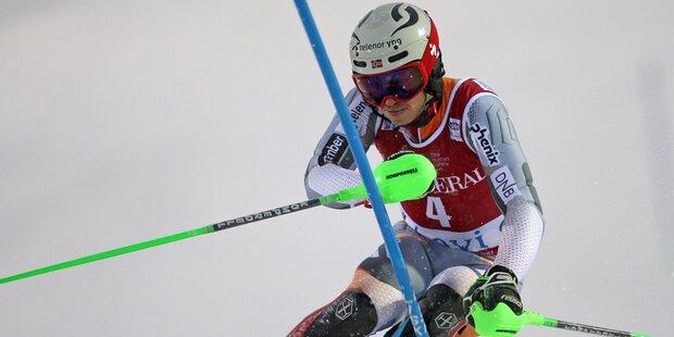 Kristoffersen siegt ersten Herren Slalom