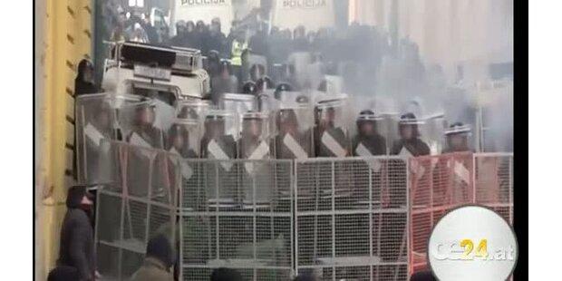 Unruhen in Kroatien - Verletzte Demonstranten