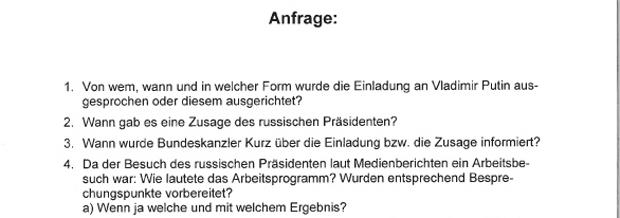Anfrage Kneissl