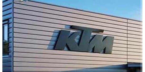 KTM mit kräftigem Minus