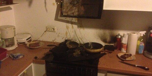 Küchenbrand: 3 Verletzte in Stockerau