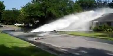 Rohrbruch: Künstliche Flut trifft auf Haus