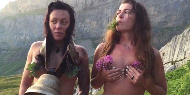 Kuhglocken-Streit: Tierschützerin postet bizarres Oben-ohne-Video